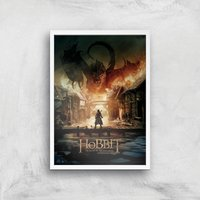 The Hobbit: Battle Of The Five Armies Giclee Art Print - A2 - White Frame