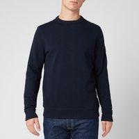 BOSS Casual Men's Walkup 1 Relaxed Fit Sweatshirt - Dark Blue - XL