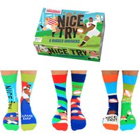 United Oddsocks Men's Nice Try Socks Gift Set - Clothes Gifts