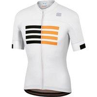 Sportful Wire Jersey - S - White/Black/Gold