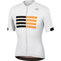 Sportful Wire Jersey - L - White/Black/Gold