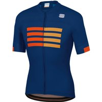Sportful Wire Jersey - S - Blue Twilight/Fire Red/Gold