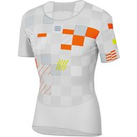 Sportful BodyFit Pro Baselayer - S - White/SIlver/Orange SDR