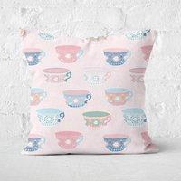 Tea Cup Square Cushion - 40x40cm - Soft Touch