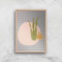 Abstract Dessert Art Giclee Art Print - A4 - Wooden Frame