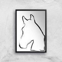 Image of Sketched Horse Giclée Art Print - A2 - Black Frame