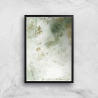 Water Ink Abstract Art Giclee Art Print - A3 - Black Frame