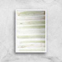 Brush Stripes Giclee Art Print - A4 - White Frame