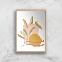 Abstract Holiday Art Giclée Art Print - A2 - Wooden Frame - Holiday Gifts
