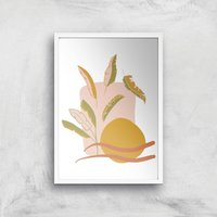 Abstract Holiday Art Giclée Art Print - A2 - White Frame - Holiday Gifts