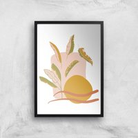 Abstract Holiday Art Giclée Art Print - A2 - Black Frame - Holiday Gifts