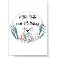 Alles Gute Zum Muttertag Tante Greetings Card - Giant Card