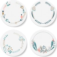 Floral Wreath Coaster Set - Floral Gifts