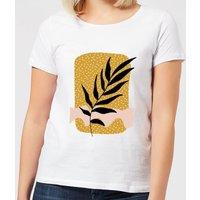 Geometric Branch Women's T-Shirt - White - 4XL - White