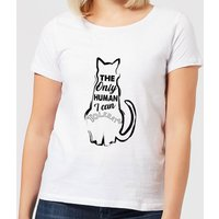 The Only Human I Can Tolerate Women's T-Shirt - White - 4XL - White