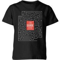 I'll Guide You Kids' T-Shirt - Black - 7-8 Years - Black
