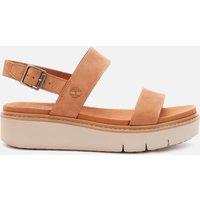 Timberland Women's Safari Dawn Leather Flatform Sandals - Rust - UK 4