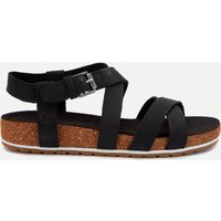 Timberland Women's Malibu Waves Ankle Nubuck Strappy Sandals - Black - UK 5