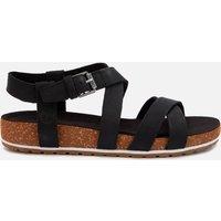 Timberland Women's Malibu Waves Ankle Nubuck Strappy Sandals - Black - UK 4
