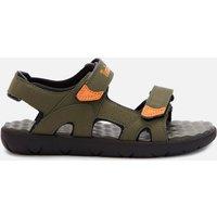 Timberland Kids' Perkins Row 2-Strap Sandals - Dark Green/Orange - UK 2.5 Kids