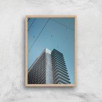 A City Birds Nest Giclee Art Print - A4 - Wooden Frame