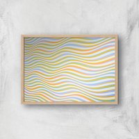 Psychedelic Waves Giclee Art Print - A4 - Wooden Frame