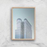 Sky Scrapper Giclee Art Print - A3 - Wooden Frame