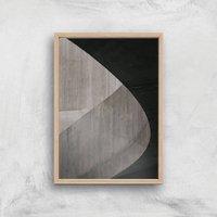 City Textures Giclee Art Print - A4 - Wooden Frame