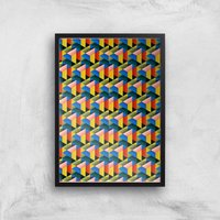 Fill The World With Colour Giclee Art Print - A2 - Black Frame