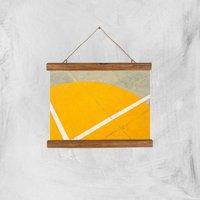 Abstract Court Giclee Art Print - A4 - Wooden Hanger