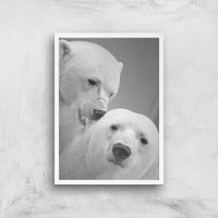 A Little Nibble Giclee Art Print - A3 - White Frame
