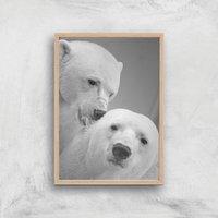 A Little Nibble Giclee Art Print - A2 - Wooden Frame