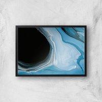 Abstract Spill Giclee Art Print - A2 - Black Frame