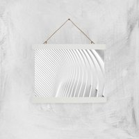 Symmetrical Lines Giclee Art Print - A4 - White Hanger