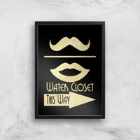 Water Closet Giclee Art Print - A2 - Black Frame