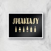 Speakeasy Giclee Art Print - A3 - White Frame