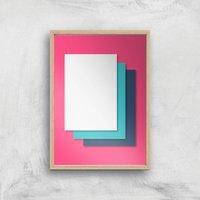 I'm Layered Giclee Art Print - A4 - Wooden Frame