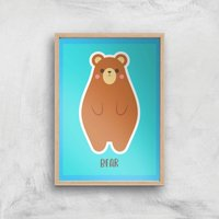 This Is A Bear Giclee Art Print - A4 - Wooden Frame