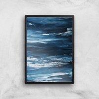 Lost At Sea Giclee Art Print - A4 - Black Frame