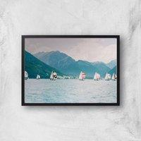Sailing Giclee Art Print - A2 - Black Frame