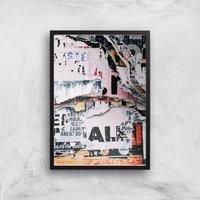 Post No Bills Giclee Art Print - A4 - Black Frame