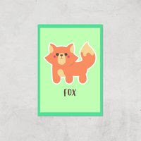 This Is A Fox Giclee Art Print - A4 - Print Only