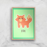 This Is A Fox Giclee Art Print - A4 - Wooden Frame