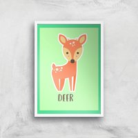 This Is A Deer Giclee Art Print - A4 - White Frame