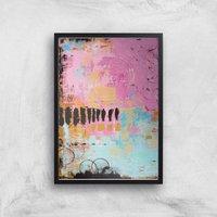 Abstract Cupcake Giclee Art Print - A4 - Black Frame