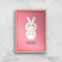 This Is A Rabbit Giclee Art Print - A2 - Wooden Frame