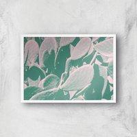 Over Exposed Leaves Giclee Art Print - A4 - White Frame
