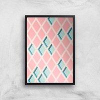 Push My Diamonds Giclee Art Print - A3 - Black Frame
