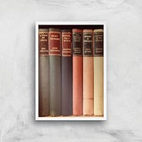 Old Book Shop Giclee Art Print - A4 - White Frame - Book Gifts