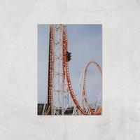 Roller Coaster Drop Giclee Art Print - A3 - Print Only